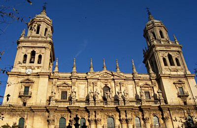 After the morning's harvest, we head to the provincial capital of Jaén, to see its superb Cathedral