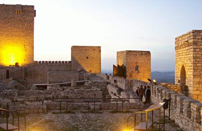 A sunset evening visit to the imposing castle of Jaén perched on a cliff