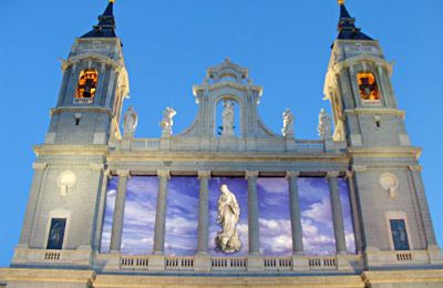 Past the Almudena Cathedral