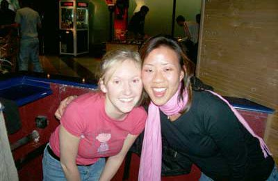 October TEFL students – Morgan Miller of Columbus, Ohio and Lina Tran of Chicago, Illinois.""