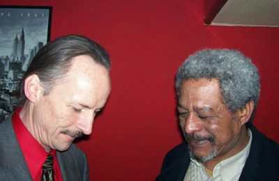 TEFL Director J.B. gets an autograph from distinguished guest, Morgan Freeman.