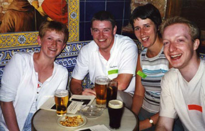 Heather from Scotland (at left), gold TEFL award winner, 2002.