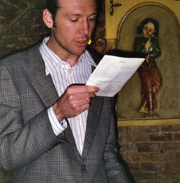 Robert, from Australia, reads a passage during the 2002 ceremony.