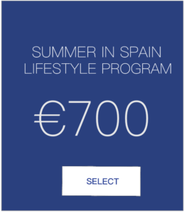Summer in Spain lifestyle program
